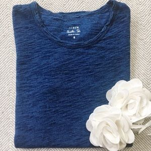 J. CREW Painter Tee In Textured Cotton Jersey
